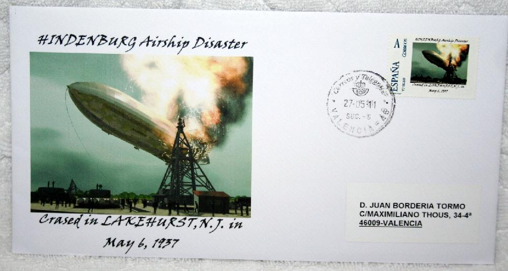 5-27-11 Hindenburg Zeppelin Air Disaster First Day Cover