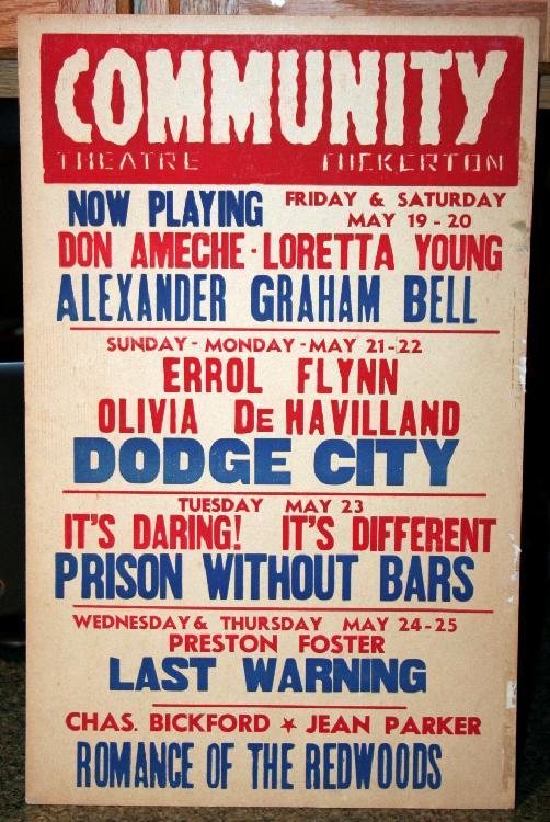 1930's Tuckerton Community Theater Lobby Card