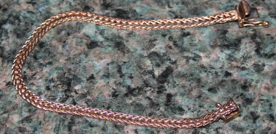 6 Inch 14KT Gold Braided Bracelet .16ozt 14KT Gold