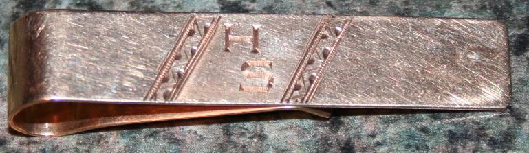 Monogrammed 14K Gold Tie Clip .19ozt