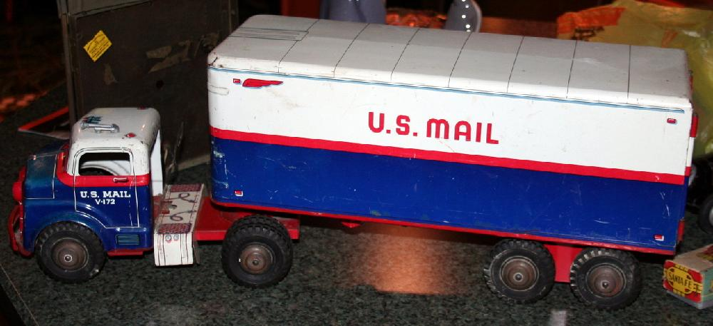 Large Marx Toys MAR US Mail Truck