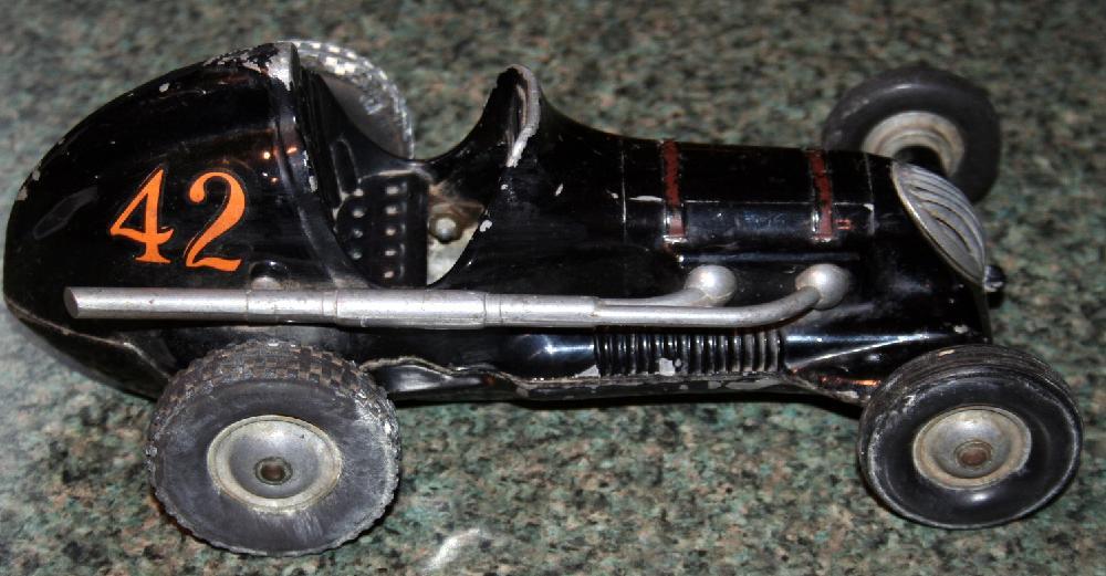 Vintage Roy Cox Thimble Drome Champion Race Tether Car