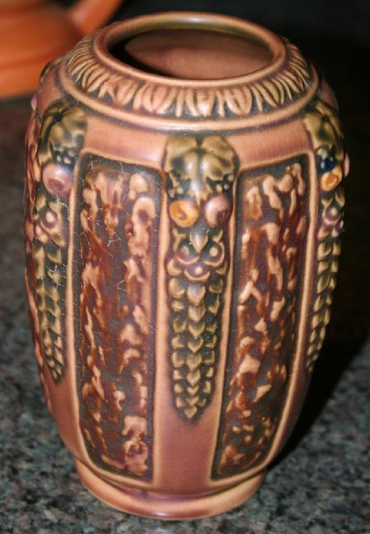 """Vintage Roseville Pottery Florentine #1 Vase #225-6"""" USA"""