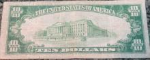 Lot 15: 1929 Type 2 Jones Woods Ten Dollar national Currency New York Bill Very Good