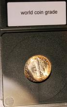 Lot 19: 1939 Ten Cent Mercury Coin WCG Rated MS-65