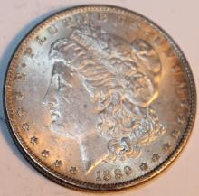 Lot 22: 1889 Morgan Silver Dollar Coin AU-50 Or Better