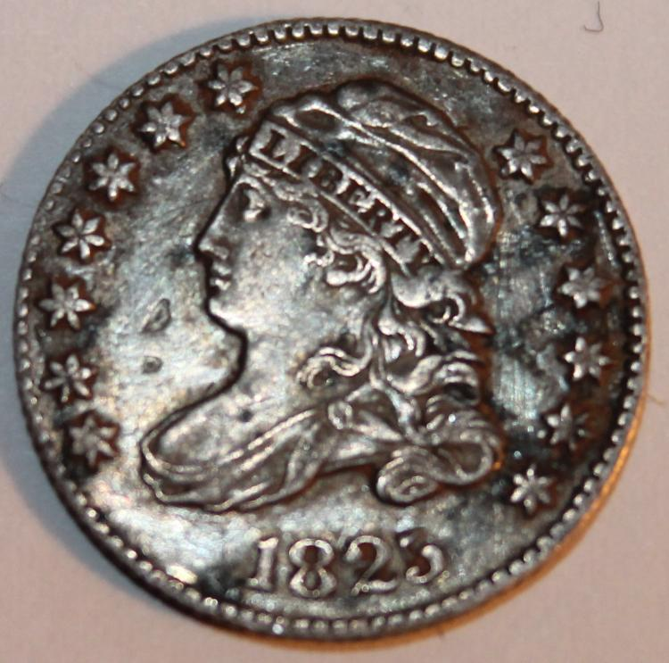 1825 Capped Bust Wide Border Dime EF-40 Or Better