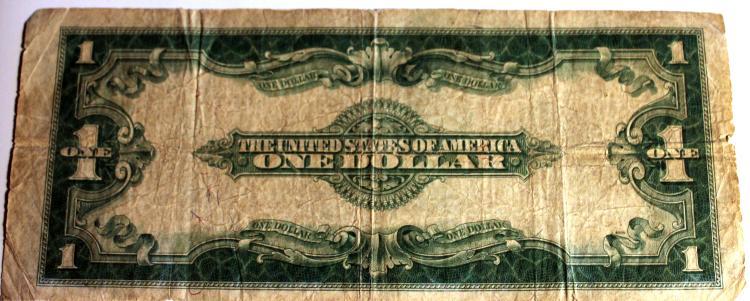 Lot 28: 1923 Woods White Silver Certificate Large Dollar Bill Fine