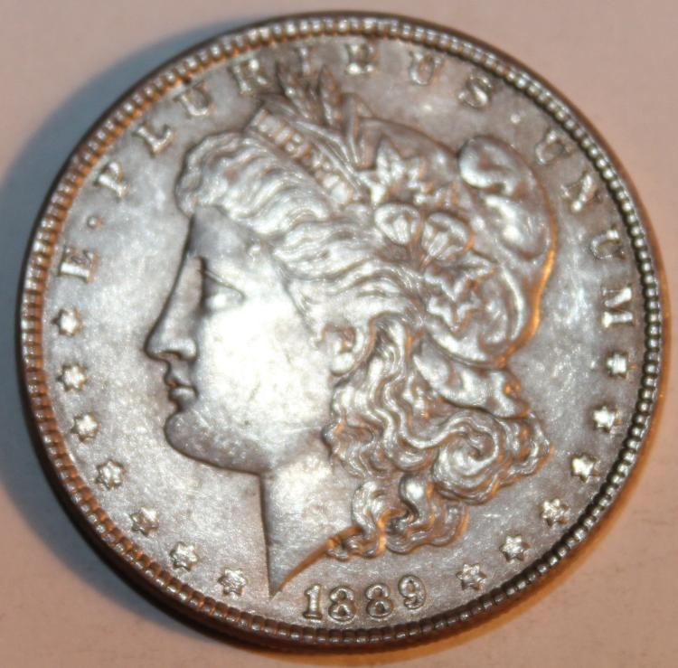 1898 Morgan Silver Dollar Coin AU-50 Or Better
