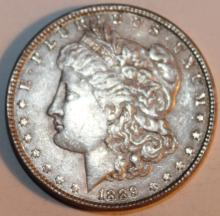 Lot 30: 1898 Morgan Silver Dollar Coin AU-50 Or Better