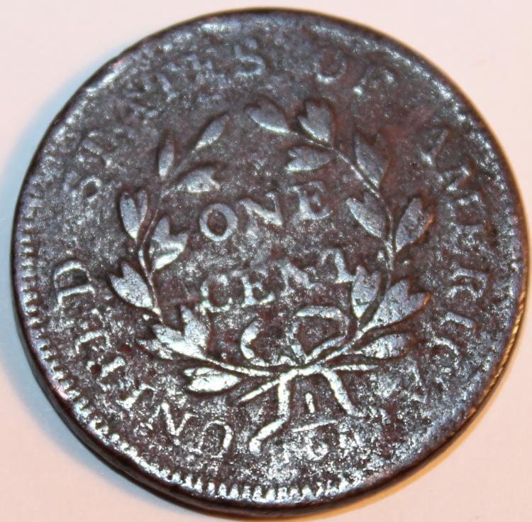 Lot 32: 1798 Draped Bust Large Cent AG-3