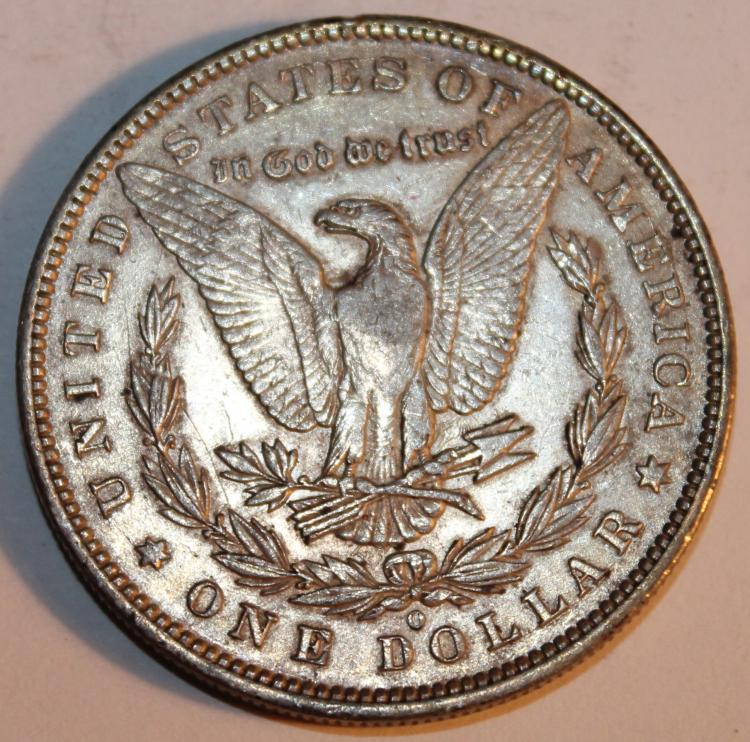 Lot 36: 1891-O Morgan Silver Dollar Coin AU-50 Or Better