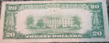 Lot 42: 1929 Type 1 Jones Woods Twenty Dollar Richmond Virginia National Currency Bill VG