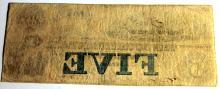 Lot 48: 1853 The Cochituate Bank Of Boston Massachusetts 5 Dollar Bearer Note