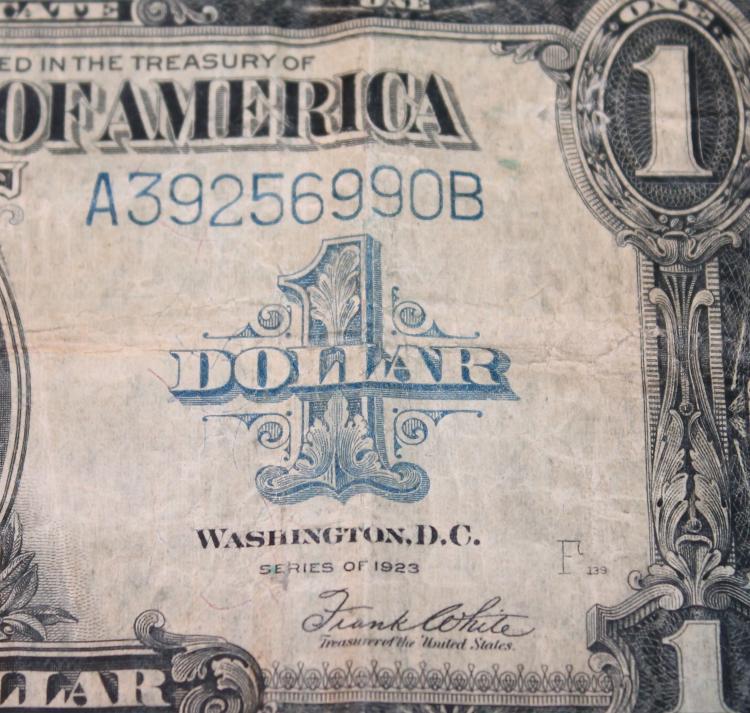 Lot 49: 1923 Speelman White One Dollar Large Dollar Silver Certificate Fine Condition