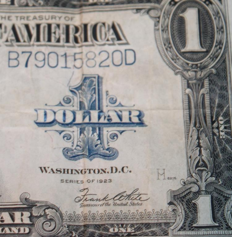 Lot 50: 1923 Speelman White One Dollar Large Dollar Silver Certificate Fine Condition