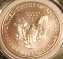 Lot 58: 2002-W One Ounce Silver American Eagle Liberty Coin Uncirculated
