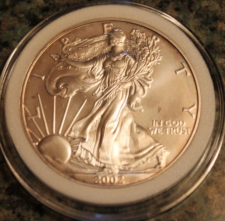2002-W One Ounce Silver American Eagle Liberty Coin Uncirculated