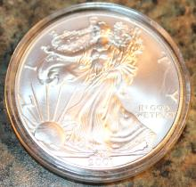 Lot 59: 2001-W One Ounce Silver American Eagle Liberty Coin Uncirculated