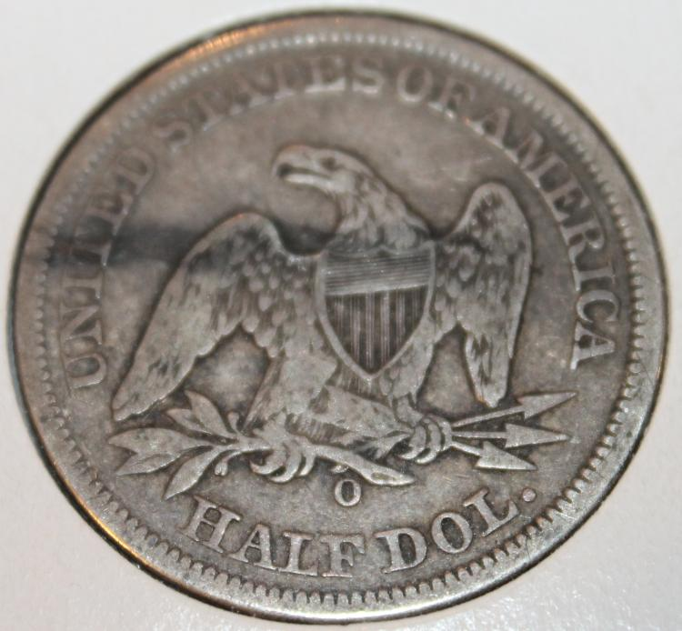 Lot 62: 1855-O Liberty Seated Half Dollar Silver Coin F-12 Or Better