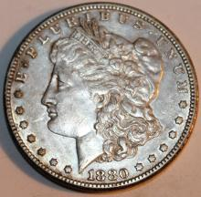 Lot 63: 1880-S Morgan Silver Dollar Coin AU-50 Or Better