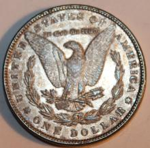 Lot 74: 1883 Morgan Silver Dollar Coin AU-50 Or Better