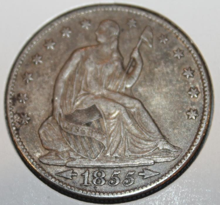1885-O Liberty Seated Half Dollar Silver Coin VF-20 Or Better