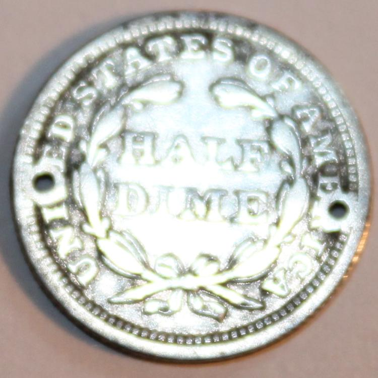 Lot 76: 1858 Liberty Seated Half Dime Coin G-4 Or Better