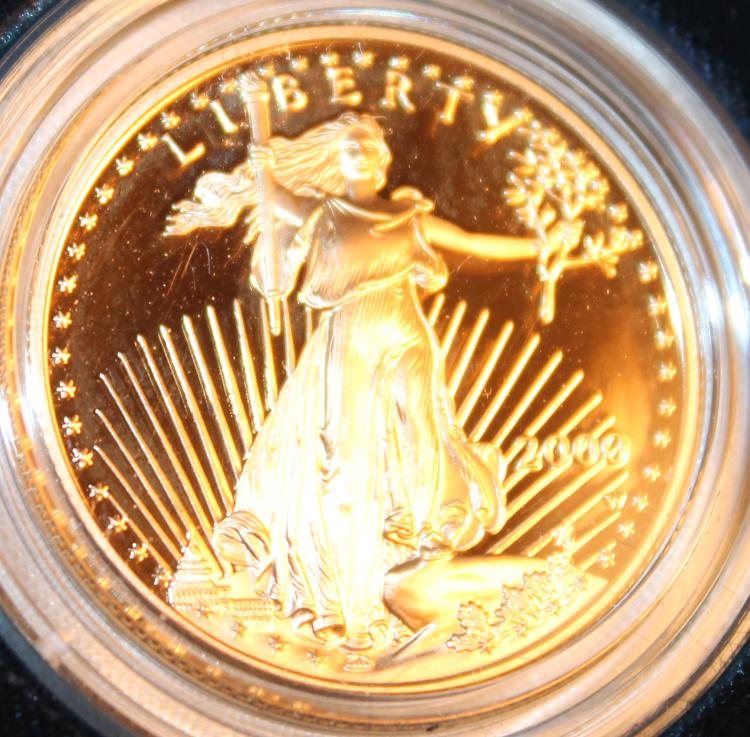 2000-W One Half Ounce Twenty Five Dollar American Eagle Proof Coin