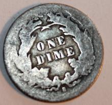 Lot 79: 1876-S Liberty Seated Dime Coin VF-20 Or Better