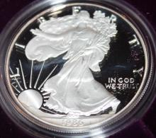 Lot 81: 1986-S One Ounce Silver American Eagle Liberty Coin Proof