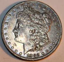 Lot 88: 1882-O Morgan Silver Dollar Coin AU-50