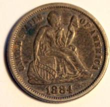 Lot 92: 1884 Liberty Seated Love Token AU-50 Or Better
