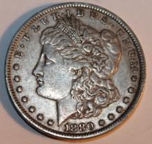 Lot 93: 1880 Morgan Silver Dollar Coin AU-50 Or Better