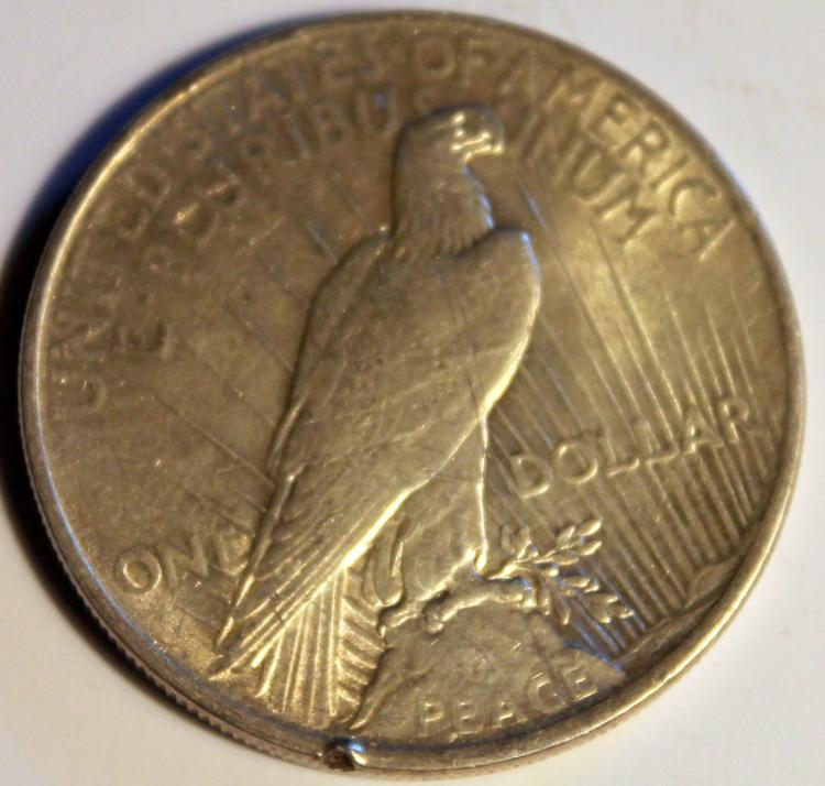 Lot 95: 1922 Peace Silver Dollar Coin AU-50 Or Better