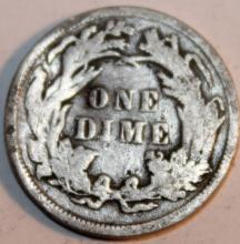 Lot 99: 1891 Liberty Seated Silver Dime EF-40 Or Better