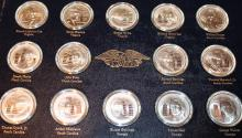 Lot 101: Franklin Mint 56 One Ounce Sterling Silver Medallion Signors Of The Declaration Set