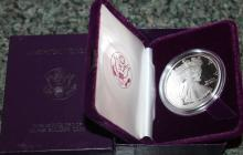 Lot 102: 1986-S One Ounce Silver American Eagle Liberty Coin Proof