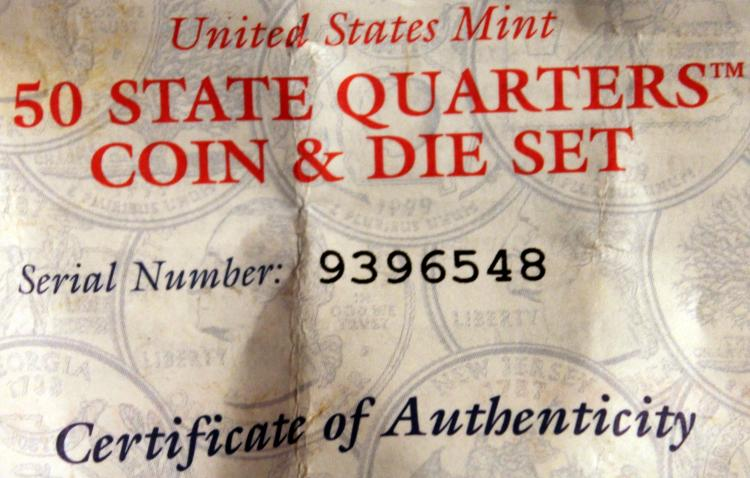 Lot 103: US Mint 50 State Quarters Coin And Die Set #9396548