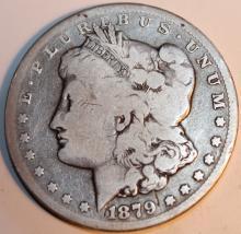 Lot 115: 1879-CC Carson City Morgan Silver Dollar Coin VF-20