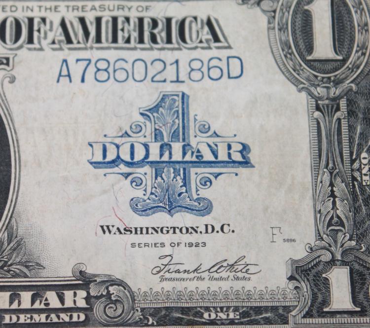 Lot 116: 1923 Speelman White One Dollar Large Dollar Silver Certificate Fine Condition