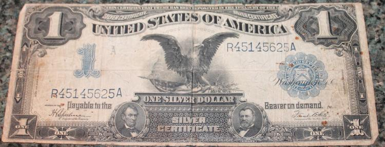 1899 Speelman White One Dollar Large Dollar Silver Certificate Fine Condition