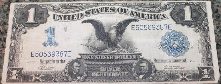 1899 Napier McClung One Dollar Large Dollar Silver Certificate Fine Condition