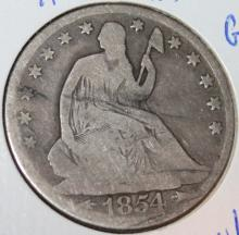 Lot 89: 1854-O Liberty Seated Silver Half Dollar Coin G-4 Or Better
