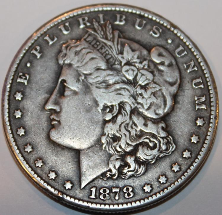1878-CC Morgan Silver Dollar Coin EF-40
