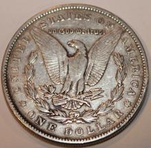 Lot 132: 1884 Morgan Silver Dollar Coin EF-40