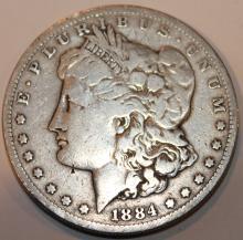 Lot 133: 1884-S Morgan Silver Dollar Coin VF-20