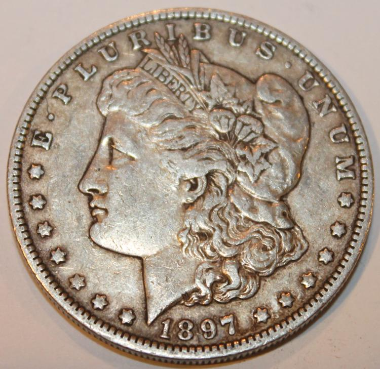 Lot 135: 1897-O Morgan Silver Dollar Coin EF-40