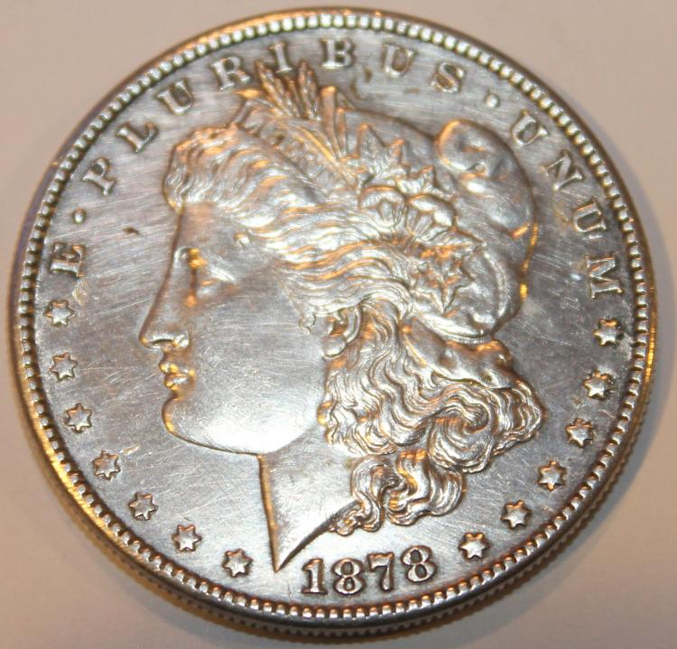 1878-S Morgan Silver Dollar Coin AU-50