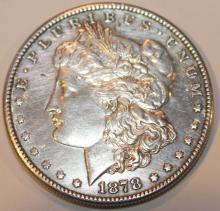 Lot 136: 1878-S Morgan Silver Dollar Coin AU-50